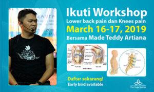 Ikuti Workshop Lower Backpain dan Knees pain - The Yoga Rescue