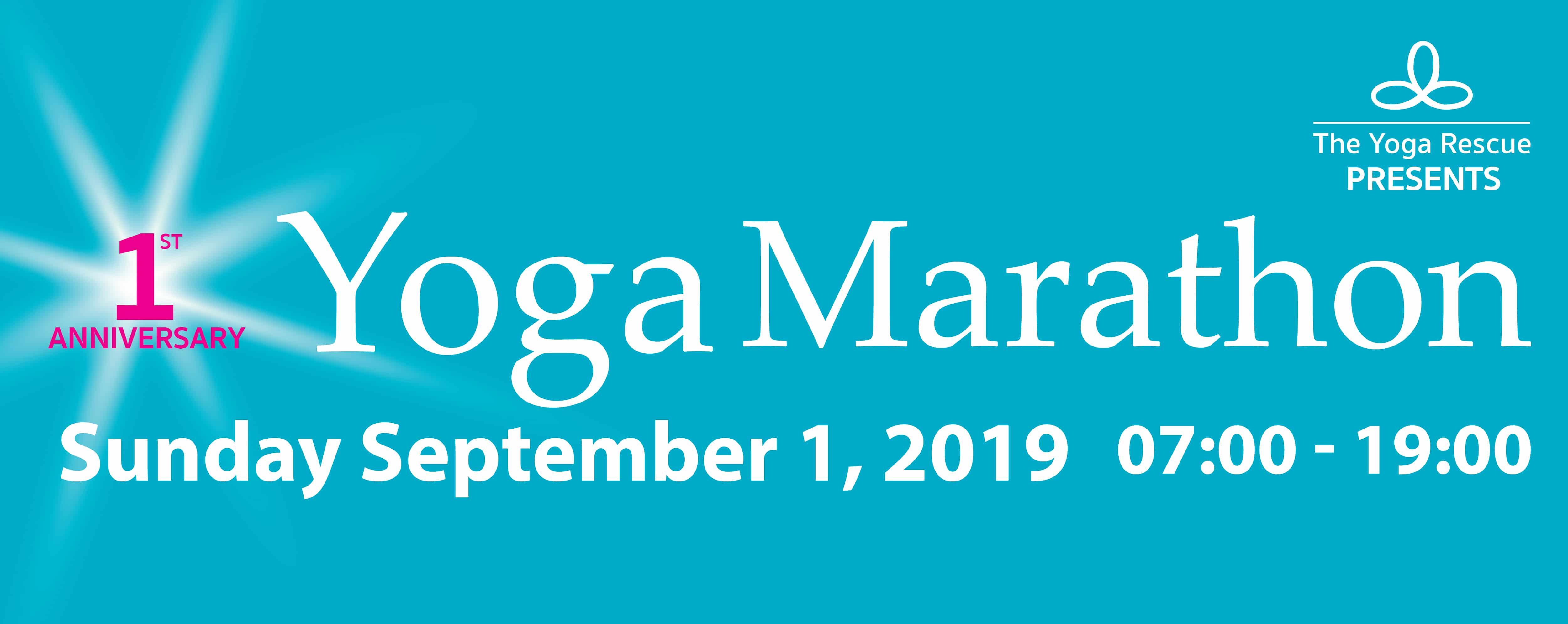The Yoga Rescue - yoga marathon
